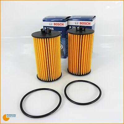 2x Ölfilter von Bosch für Chevrolet Opel Adam Astra H J Corsa Zafira Tourer Insignia 32