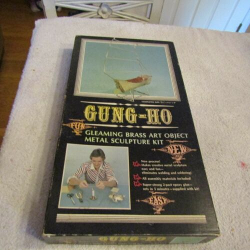 Impressions in Brass Gung-Ho Boat Gleaming Brass Art Object Sculpture Kit 1975