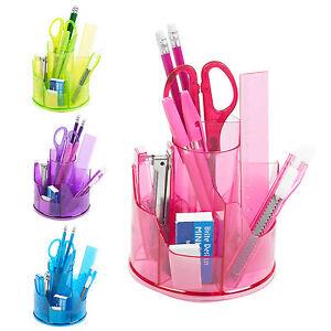13pc Office Stationery Organiser Set Rotating Desk Tidy