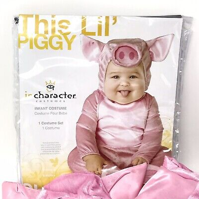Bull Costume For Baby (In Character Costume Baby Unisex THIS LIL PIGGY Pink Pig Costume 6-12)