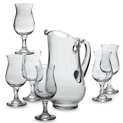 Traditional 7-Piece Sangria Set - Glass, Pitcher, 6 Glasses - NEW - Free Ship ()