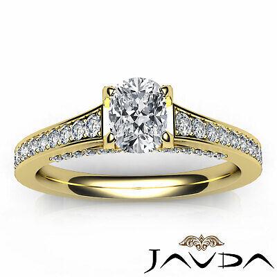 Bridge Accent Micro Pave Set Cushion Diamond Engagement Ring GIA H VS1 1.25 Ct 3