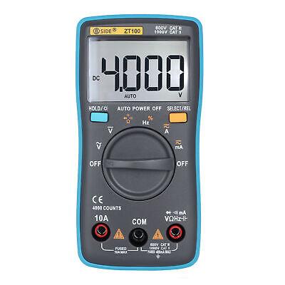 Handheld Digital Voltmeter Ammeter Multimeter Volt Ac Dc Tester Meter True Rms