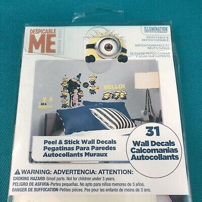 DESPICABLE ME removable wall stickers 31 room decor Decals MINIONS