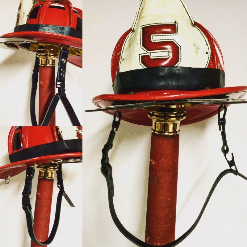 Fire Helmet Leather Chin Strap