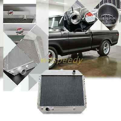 3 Rows Aluminum Radiator Fit Ford F100 F150 F250 F350 Bronco Truck 1966-1979 433