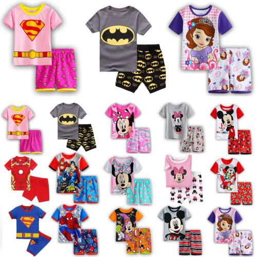 Toddler Kids Baby Boy Girl Pajamas Set Nightwear Sleepwear T
