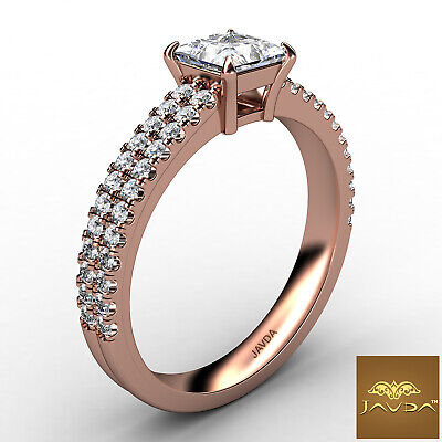 Double Prong Princess Cut Diamond Engagement Ring GIA Certified F Color SI1 1Ct 10