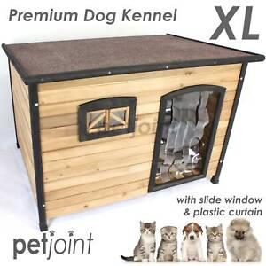 German Shepherd XL Large Wooden Pet Dog Kennel Home House Outdoor