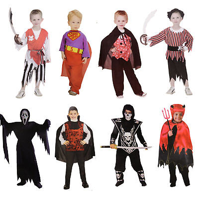 Kinder Kostüm Jungs Halloween Fasching Pirat Vampir Teufel - Teufel Kostüm Junge