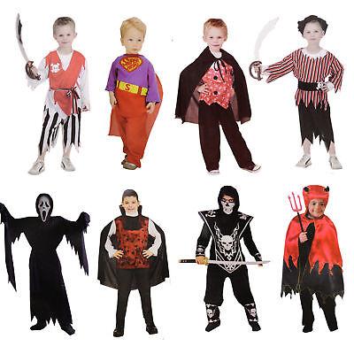 Kinder Kostüm Jungs Halloween Fasching Pirat Vampir Teufel Suprtheld Dracula