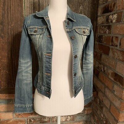 Abercrombie Fitch Youth Size medium Authentic Vintage Jean Jacket