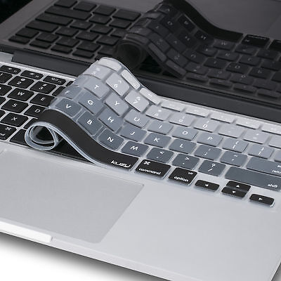 Kuzy Gray Ombre Colors Keyboard Cover Silicone Skin for MacB