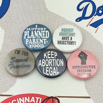 "Pro Choice 1"" buttons badges Donald Trump Equal Women's Rights Feminist Abortion"