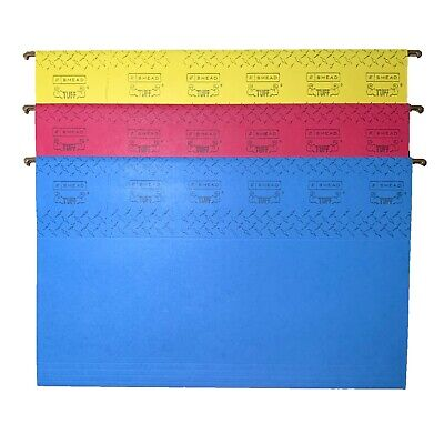 Lot Of 2 New 15 Ct Smead Tuff Colors Legal Size Hanging File Folders 64140