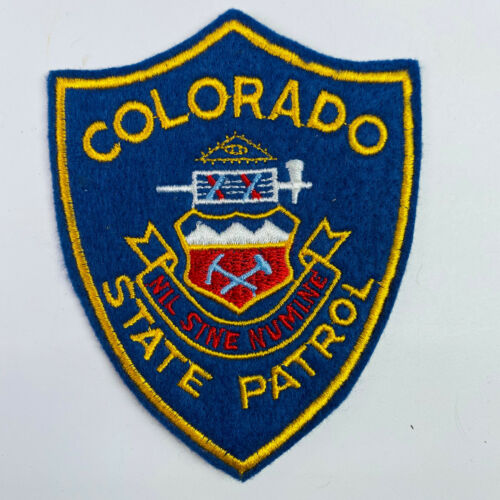 Colorado State Patrol CO Police Trooper Highway Felt Patch (A2-B)