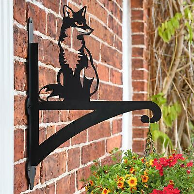 New Sitting Fox Iron Hanging Basket Bracket