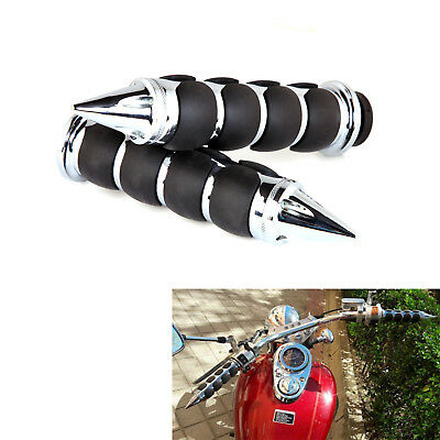 """1"""" Motorcycle Handle Bar Hand Grips Rubber Gel For Honda Shadow ACE 750 ACE 1100"""