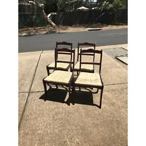Four teak dining chairs Spence Belconnen Area Preview