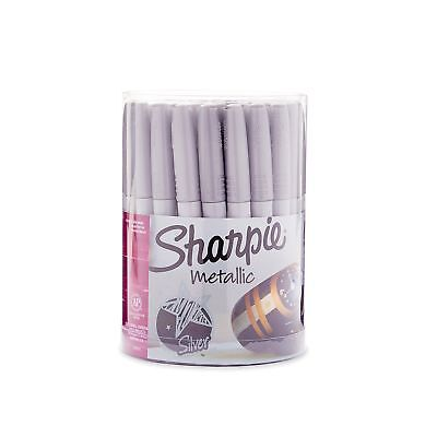 Sharpie 9597 Metallic Permanent Markers Fine Point Silver 36 Pack 36-count