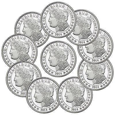 SilverTowne 2014 1oz .999 Fine Silver Round LOT OF 10