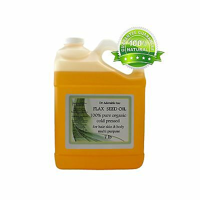 7 LB/ 1 Gallon Premium Pure Organic Cold Pressed Best Flaxseed Oil Multi