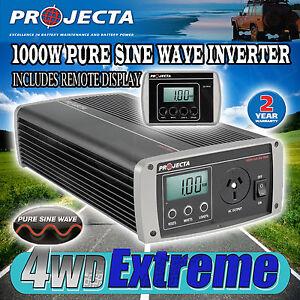 PROJECTA IP1000 PURE SINE WAVE  POWER INVERTER 12 VOLT 1000WATTS CARAVAN TRUE