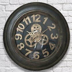 Steampunk Tyre Retro Vintage Wall Clock Antique Classic Rustic Industrial Look 8