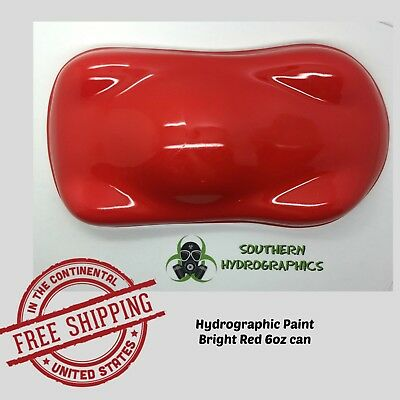 Hydrographic Film Hydro Dip Kit Paint Base Coat 6oz Aerosol Bright Red