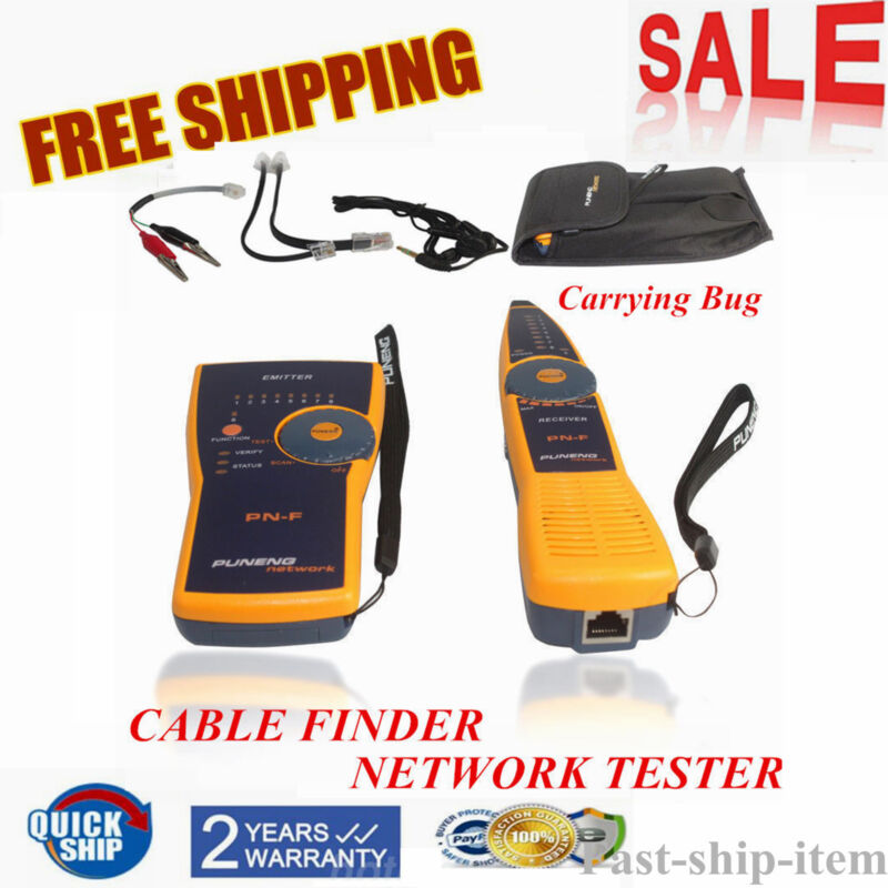 PN-F Telephone Wire Tracker Toner and Probe Network Cable Tester RJ45 RJ11