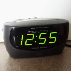 Philips Magnavox Large Display AM/FM Dual Alarm Weatherband Clock Radio AJ3380