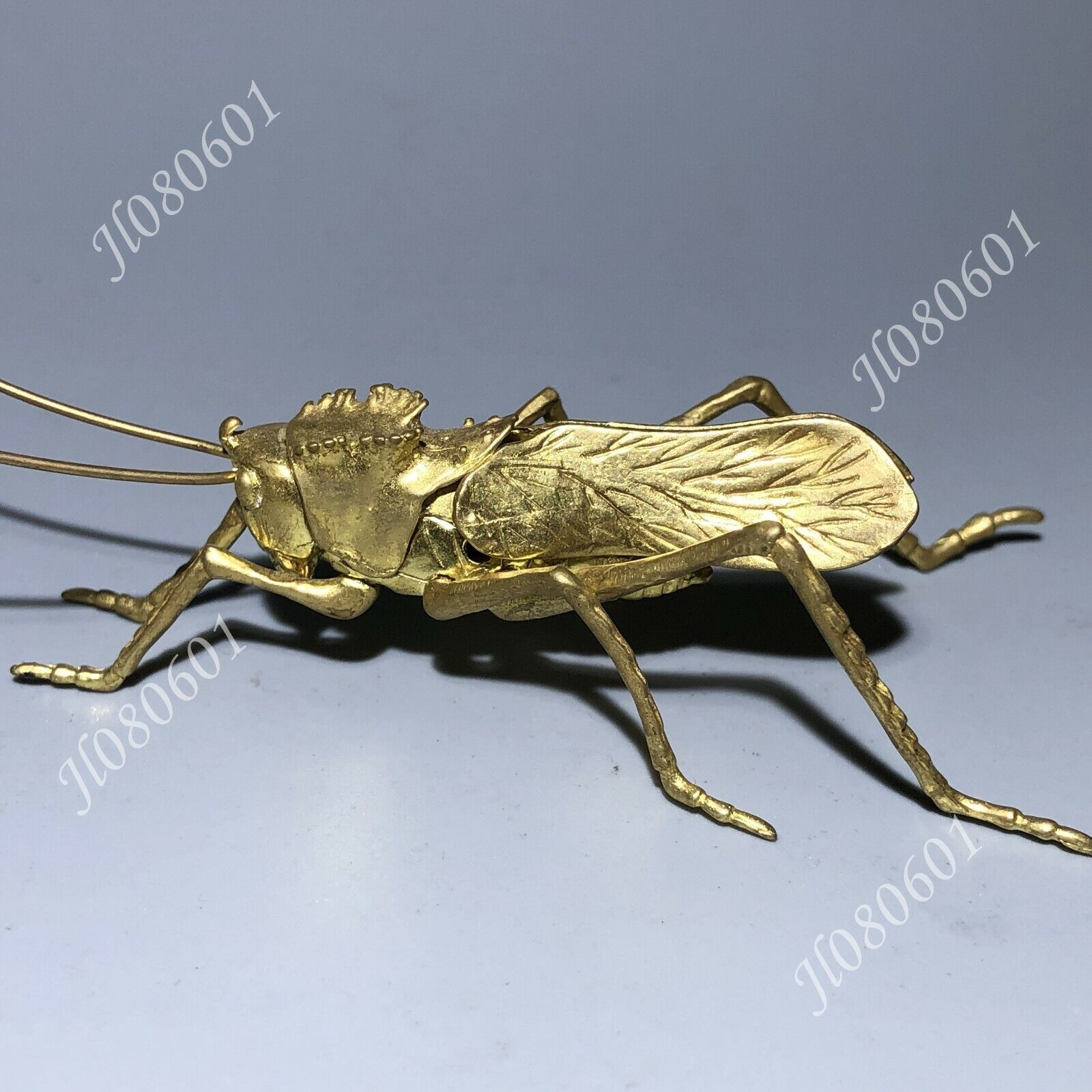 Chinese Animal Pure Bronze Copper Grasshopper