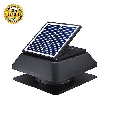 20w Solar Power Attic Fan 1520 Cfm Roof Ventilation Exhaust Vent Super Quiet