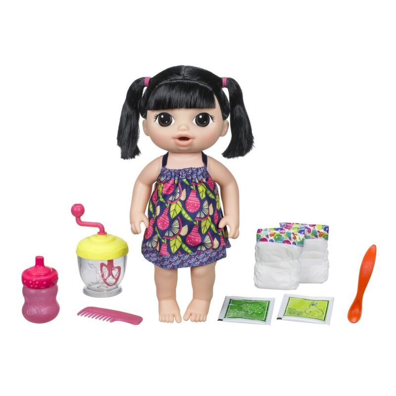 Baby Alive Sweet Spoonfuls Baby-Black Pigtails