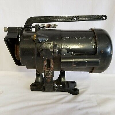 Antique Commercial Sewing Machine Electric Motor Clutchbrake 12 Hp 120-240v
