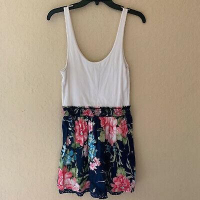 Abercrombie & Fitch Floral Colorblock Dress Size Large L