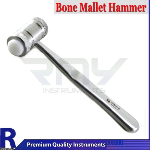 Dental Bone Grafting Crusher Mead Nylon Heads Surgical Implant Mallet Hammer