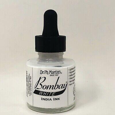 Dr. Ph. Martin's Bombay India Ink 1.0 oz White NEW