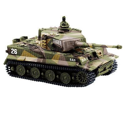 1:72 Radio Remote Control Mini Rc German Tiger I Panzer Tank with Sound Toys