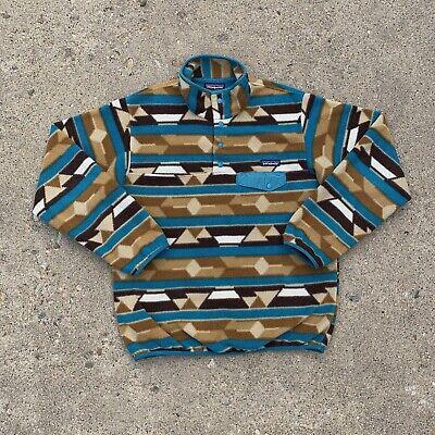 Patagonia Womens Synchilla Snap T Pullover Pattern Fleece Jacket Size Medium