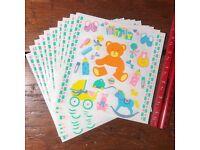 Ark,Shower Mrs Peas Grossman/'s//Anne Geddes Vintage stickers: Baby,Night Night