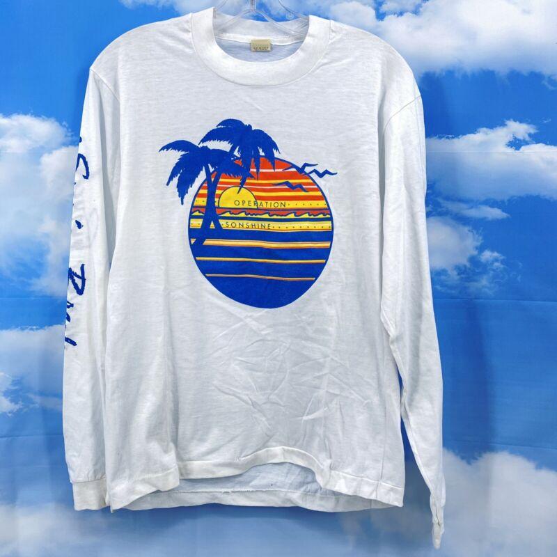 Vintage Daytona Beach Florida Spring Break T-Shirt L Single Stitch Long Sleeve