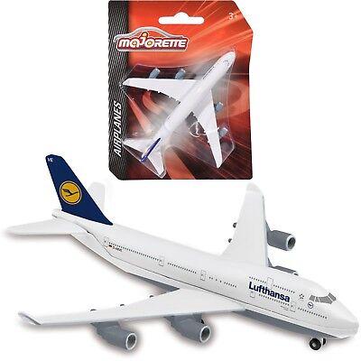 Majorette Lufthansa Boeing 747 Airplane Flugzeug Modell Kinder Spielzeug 1157