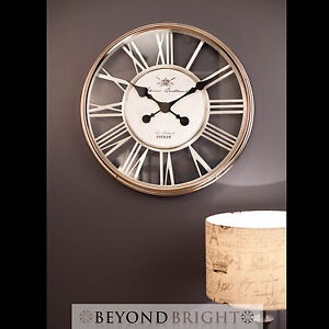 NEW Metal Modern Wall Clock LARGE ESTHER Designer Home Room Decoration Free