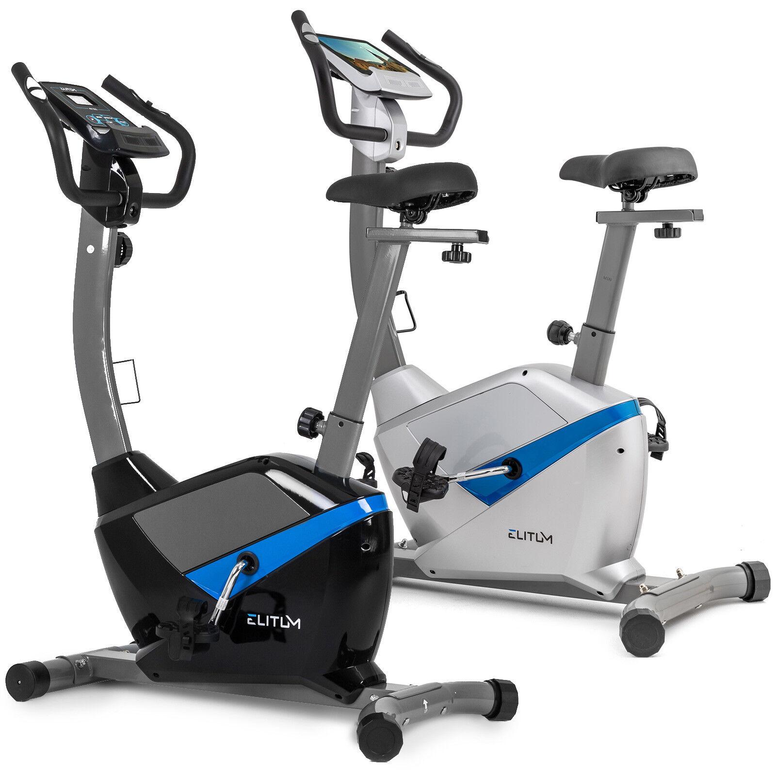 Heimtrainer Fitnessbike Trimmrad Ergometer Fahrrad Computer belastbar bis 120 kg✔Pulsmessung ✔Sattel verstellbar ✔Schwungmasse: 9 kg
