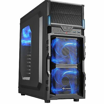 Sharkoon VG5-W blue, Tower-Gehäuse, schwarz