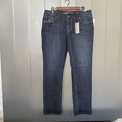 Melissa Mccarthy Seven7 Straight Leg Dark Wash Jean Size 16 Dark Wash Straight Leg Jean