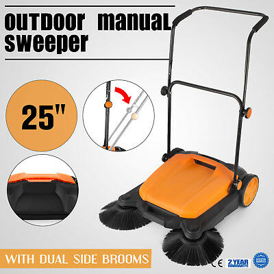 Industrial Push Broom Dust Sweeper Floor Cleaner Household Patio Driveway
