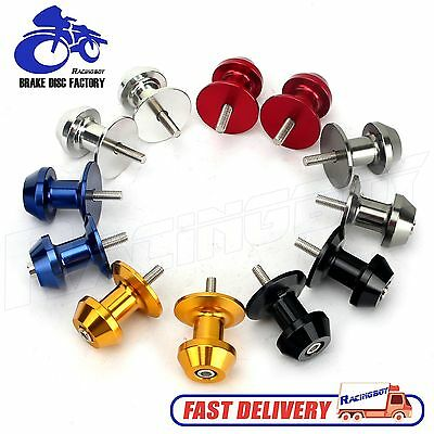 6/8/10mm Aluminum CNC Motorcycle Swingarm Swing Arm Spools Sliders Stand Bobbins 10mm Swing Arm Spools