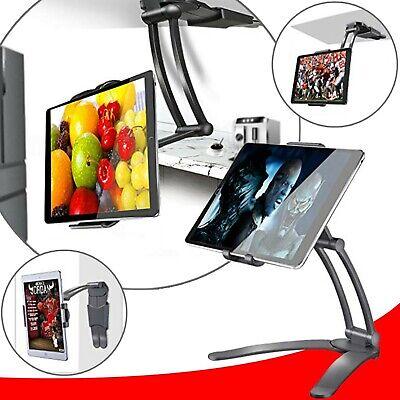 Kitchen Desktop Tablet/ipad/IPAD Pro 12.9/Mini Stand Wall Mount iPad Holder- BLK